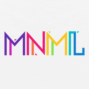 Minimal Type (Colorful) Typography - Design Kids' Shirts - Men's Premium Tank