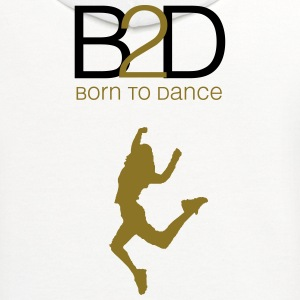 born to dance (woman) Kids' Shirts - Contrast Hoodie
