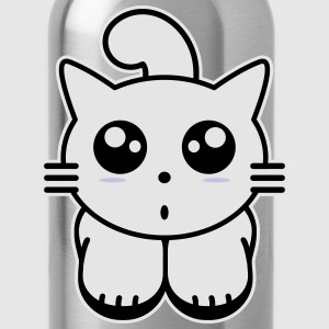 kitten manga Kids' Shirts - Water Bottle