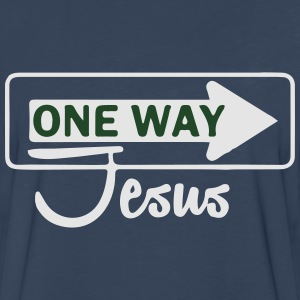 Catholic design - One WayJesus T-Shirts - Men's Premium Long Sleeve T-Shirt