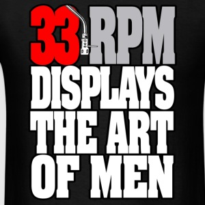 33RPM-DISPLAYS-THE-ART-OF-MEN Hoodies - Men's T-Shirt