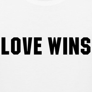 Love wins T-Shirts - Men's Premium Tank