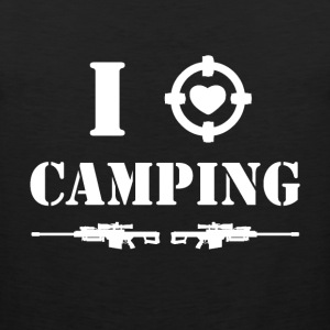 i love camping - white SHIRT MAN - Men's Premium Tank