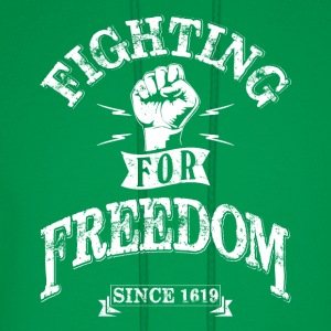 Fighting for Freedom since 1619 T-Shirts - Men's Hoodie