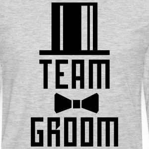 Team Groom Bachelor Party JGA Cylinder Hut T-Shirt - Men's Premium Long Sleeve T-Shirt