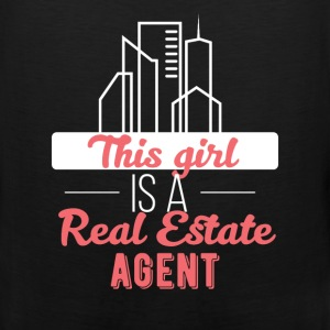 Real estate agent - This girl is a real estate age - Men's Premium Tank