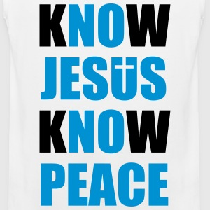 Know Jesus Know Peace T-Shirts - Men's Premium Tank