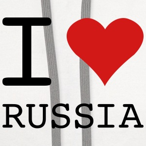 I LOVE RUSSIA - Contrast Hoodie