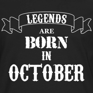Legends Are Born In October - Men's Premium Long Sleeve T-Shirt