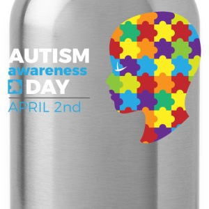 Autism Awareness Day T-Shirts - Water Bottle