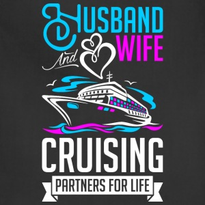 Husband And Wife Cruising Partners For Life T-Shirts - Adjustable Apron