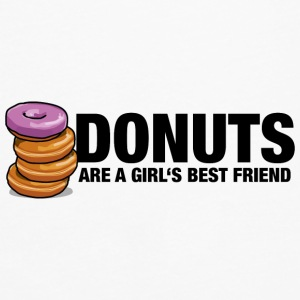 Donuts are a girl's best friend - Men's Premium Long Sleeve T-Shirt
