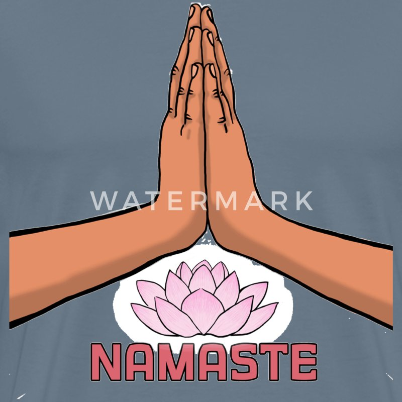 Namaste painting desi - Men's Premium T-Shirt