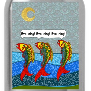 salmon chanted evening - Water Bottle