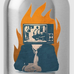Tv monitor propaganda - Water Bottle