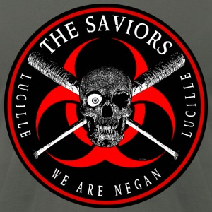Biohazard The Saviors We Are Negan Ring Patch R Hoodies - Men's T-Shirt by American Apparel
