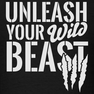 Unleash your wild beast Long Sleeve Shirts - Men's T-Shirt