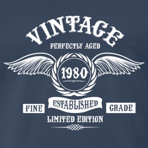Vintage Perfectly Aged 1980 Long Sleeve Shirts - Men's Premium T-Shirt