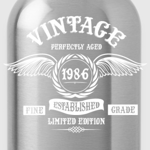 Vintage Perfectly Aged 1986 T-Shirts - Water Bottle