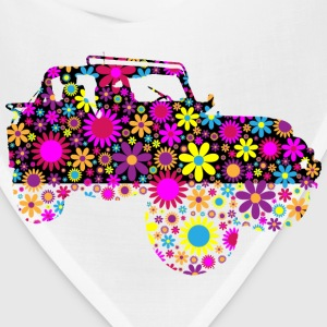 Floral Jeep Silhouette - Bandana