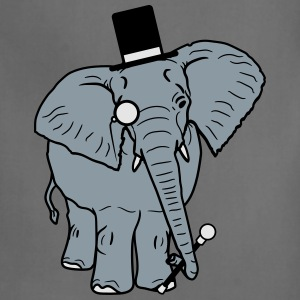 Sir gentleman gentleman hat monoculars elephant pa T-Shirts - Adjustable Apron