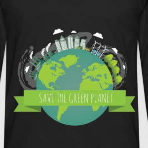 Green planet - Save the green planet - Men's Premium Long Sleeve T-Shirt