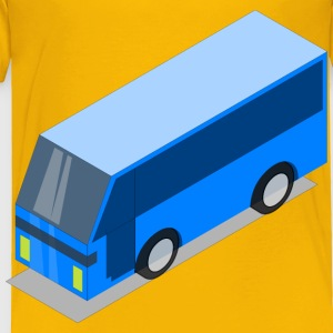 Blue bus - Toddler Premium T-Shirt
