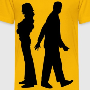 Fighting Couple Silhouette - Toddler Premium T-Shirt
