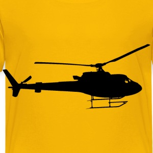 Helicopter Silhouette - Toddler Premium T-Shirt