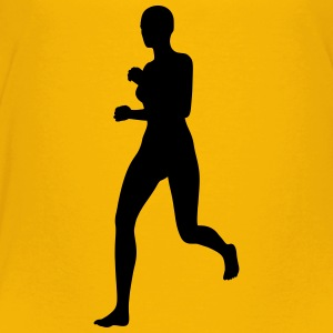 Woman running - Toddler Premium T-Shirt