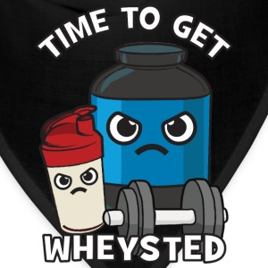 Time To Get Wheysted - Angry Protein Shake T-Shirts - Bandana