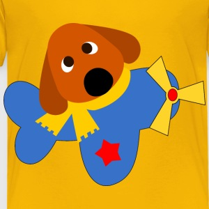 A dog in a plane - Toddler Premium T-Shirt