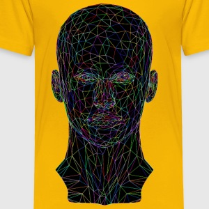 Prismatic Low Poly Female Head Wireframe - Toddler Premium T-Shirt