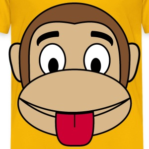 Monkey  Tongue out - Toddler Premium T-Shirt