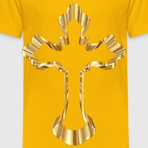 Gold Ornate Cross No Background - Toddler Premium T-Shirt