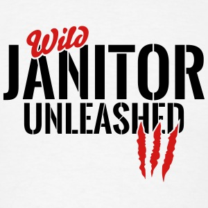wild janitor unleashed Long Sleeve Shirts - Men's T-Shirt