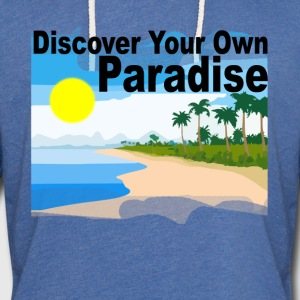 discover_your_own_paradise_ - Unisex Lightweight Terry Hoodie
