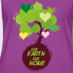 Tree with hearts - Our Earth Our Home Baby Bodysuits - Women's Premium T-Shirt