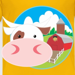 Cow And Barn - Toddler Premium T-Shirt