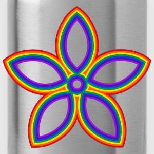 Rainbow Flower - Water Bottle
