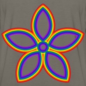 Rainbow Flower - Men's Premium Long Sleeve T-Shirt