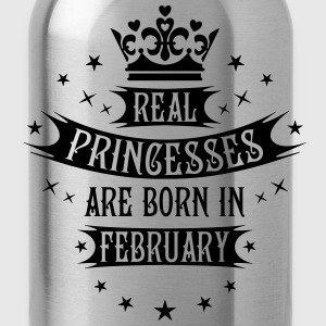 Real Princesses are born in February Princess birt - Water Bottle