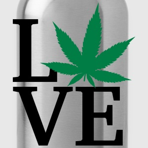 I love weed T-Shirts - Water Bottle