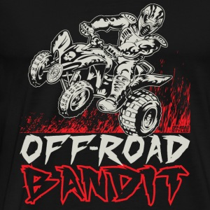 ATV Quad Off-Road Bandit Long Sleeve Shirts - Men's Premium T-Shirt