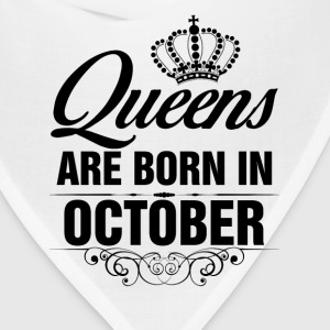 Queens Are Born In October Tshirt T-Shirts - Bandana