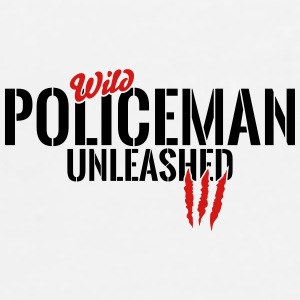 wild policeman unleashed Mugs & Drinkware - Men's Premium T-Shirt