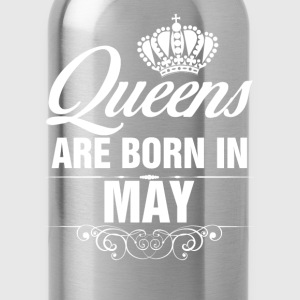 Queens Are Born In May Tshirt T-Shirts - Water Bottle