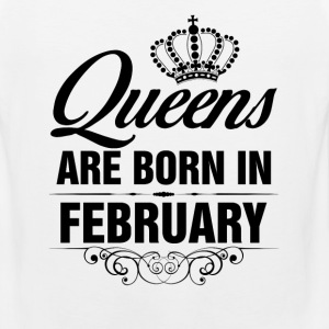Queens Are Born In February Tshirt T-Shirts - Men's Premium Tank