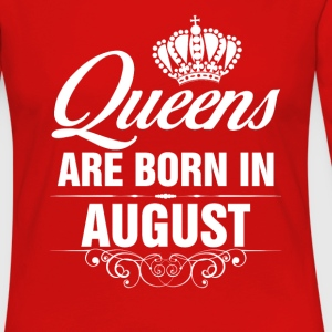 Queens Are Born In August Tshirt T-Shirts T-Shirts - Women's Premium Long Sleeve T-Shirt