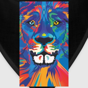 vivid color lion - Bandana